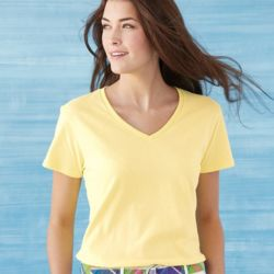 Heavy Cotton Women's V-Neck T-Shirt Thumbnail