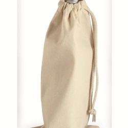 10 Ounce Cotton Canvas Drawstring Wine Bag Thumbnail